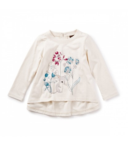 Tea Collection Epona Twirl Top in Chalk Product Image