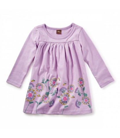 Tea Collection Thistle Graphic Baby Dress in Lilac Product Image