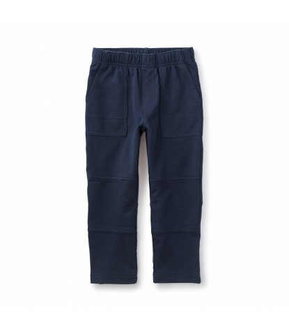 Tea Collection French Terry Playwear Pants in Heritage Blue