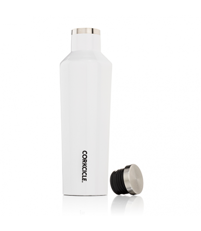 Corkcicle - Canteen 16oz Gloss White