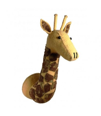 Fiona Walker Mini Tonal Giraffe Head Wall Mount