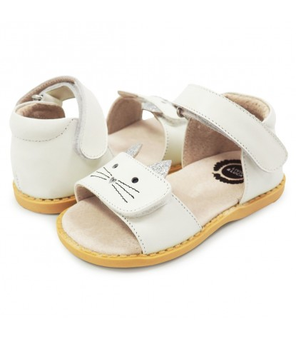 Livie and Luca Tabby Sandal in Milk Product Image