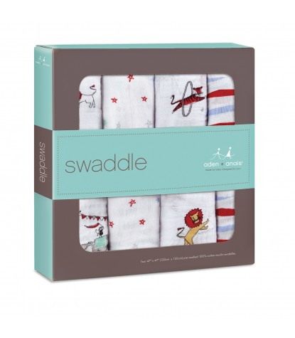 Vintage Circus Swaddle 4-Pack