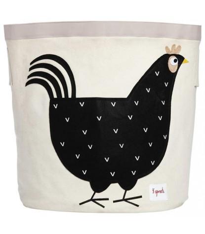 3 Sprouts Black Hen Storage Bin