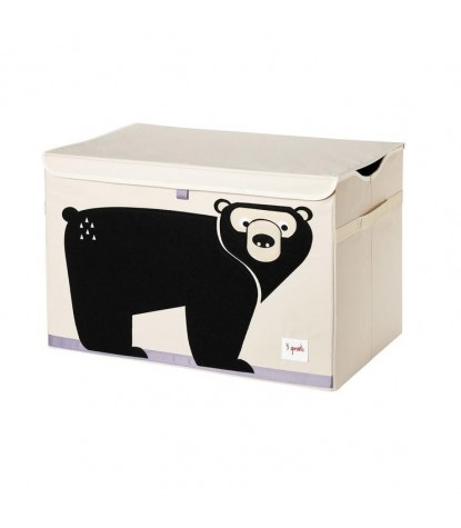 3 Sprouts Black Bear Toy Chest