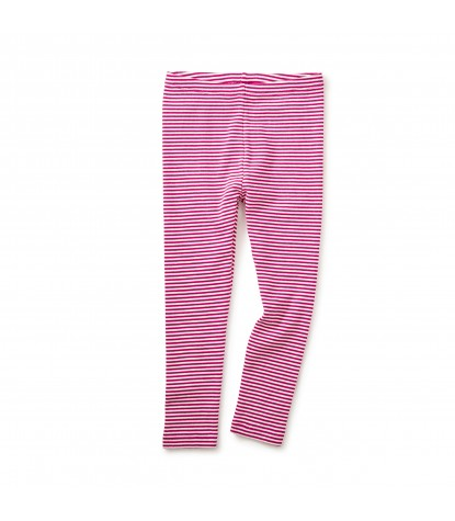 Tea Collection Striped Leggings in Shocking Fuschia Image