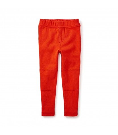 Tea Collection Ribbed Moto Pants in Vermillion Product Image