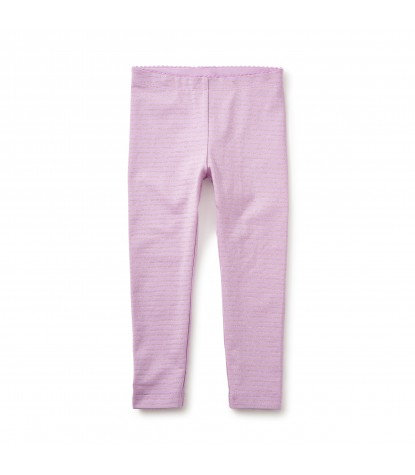 Tea Collection Sparkle Stripe Leggings in Lilac Image