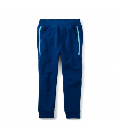 Tea Collection Zip Pocket Joggers in Blue Nova Product Image