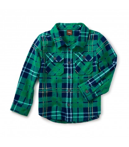 Tea Collection Dougal Flannel Shirt in Grassy Field Product Image