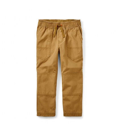 Tea Collection Boys Canvas Explorer Pants in Raw Umber Product Image