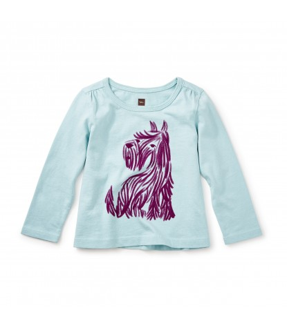 Tea Collection Baby Scottie Graphic Tee in Canal Blue Product Image