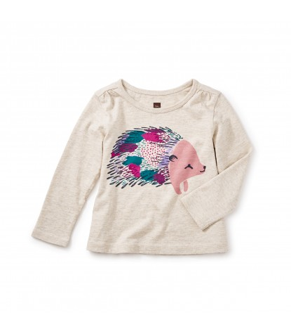 Tea Collection Hedgehog Graphic Tee in Oatmeal Heather Product Image