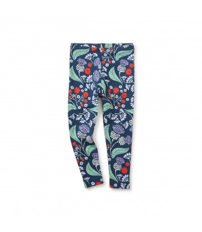 Tea Collection Thistle Baby Leggings in Indigo Product Image