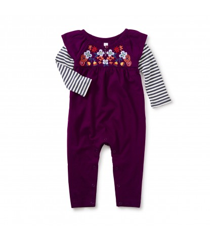 Tea Collection Willow Flutter Romper in Cosmic Berry Product Image