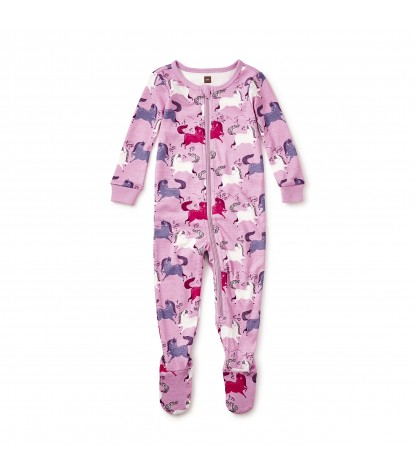 Tea Collection Shetland Baby Pajamas in Lilac Product Image