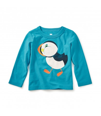 Tea Collection Puffin Graphic Tee in Pacific Blue Product Image