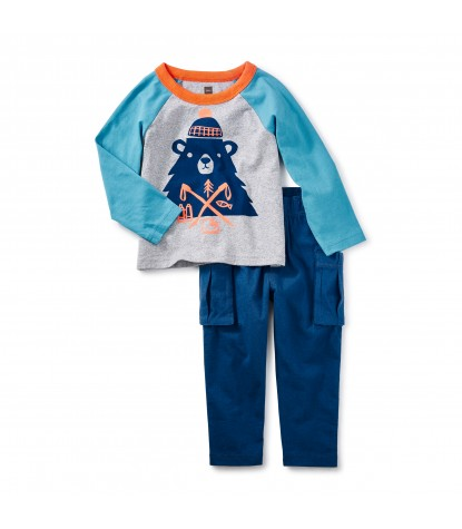 Tea Collection Munro Bear Baby Outfit Product Image