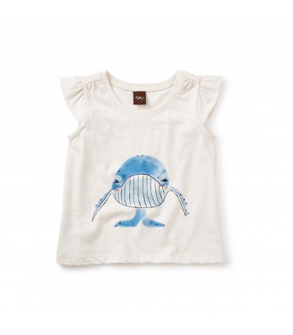 Tea Collection - Blue Whale Graphic Tee Chalk