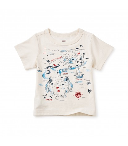 Tea Collection Snapper Island Graphic Baby Tee in Chalk