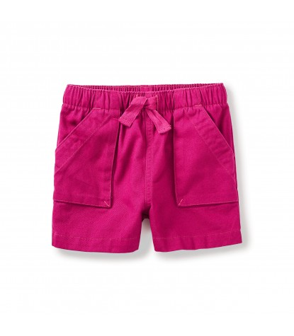 Tea Collection Girls Short n Sweet Pull-on Shorts in Dahlia