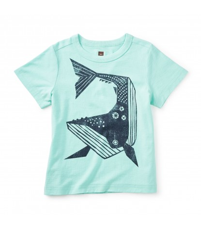 Tea Collection Whale Then Graphic Tee in Mint Julep