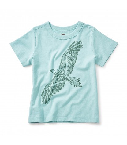 Tea Collection Condor Graphic Tee in Alpine Blue