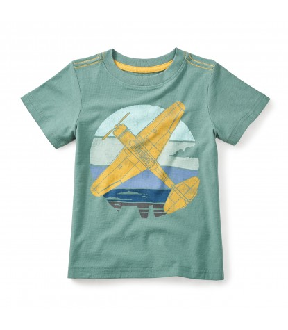 Tea Collection Beech 18 Graphic Tee in Foliage