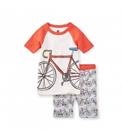 Tea Collection Boys Tasmanian Trail Pajamas in Oyster Grey