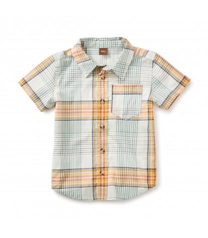 Tea Collection Anzac Buttoned Shirt Ocean
