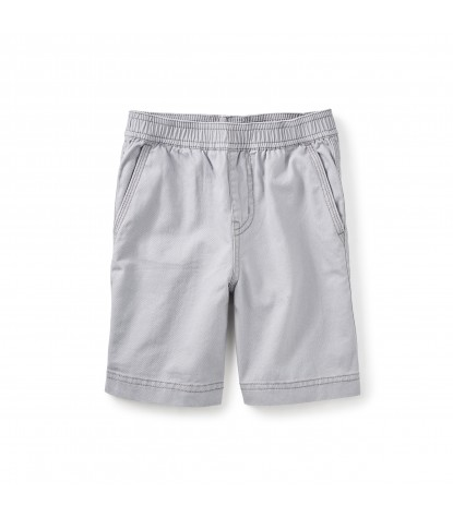 Tea Collection Easy Does It Twill Shorts in Storm Grey