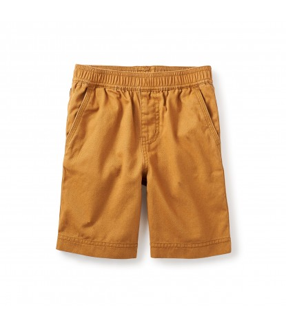Tea Collection Easy Does It Twill Shorts in Burnt Khaki