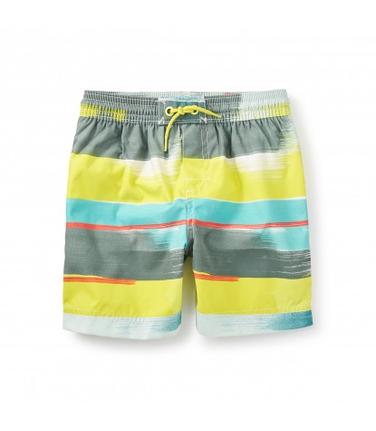 Tea Collection Noosa Swim Trunks in Highlighter