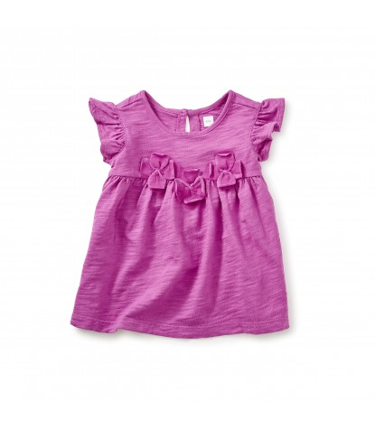 Tea Collection Hovea Applique Baby Tunic in Mulberry