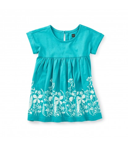 Tea Collection Fern Gully Baby Dress in Mermaid