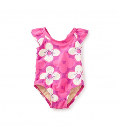 Tea Collection Curl Curl Baby One Piece in Astilbe Pink
