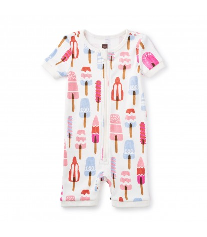 Tea Collection Icypole Baby Pajamas in Chalk