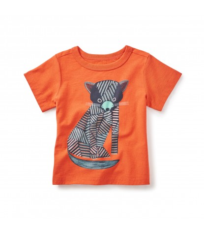 Tea Collection Tasmanian Devil Graphic Tee in Paprika