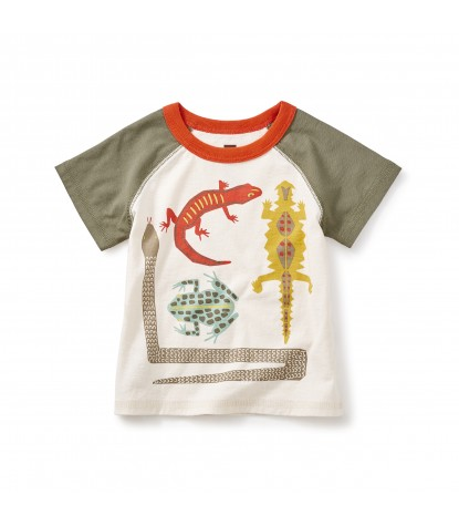 Tea Collection Great Sandy Desert Graphic Baby Tee in Chalk