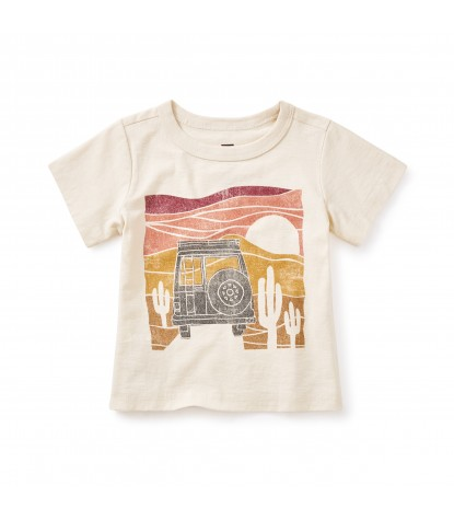 Tea Collection Alice Springs Graphic Tee in Creme
