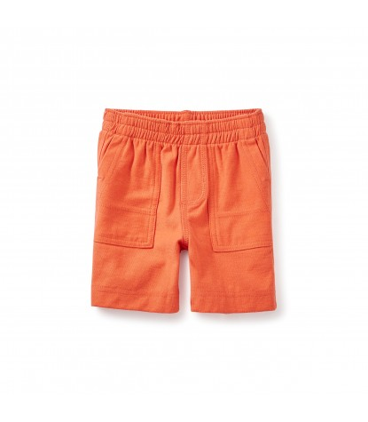 Tea Collection Jersey Playwear Baby Shorts in Paprika