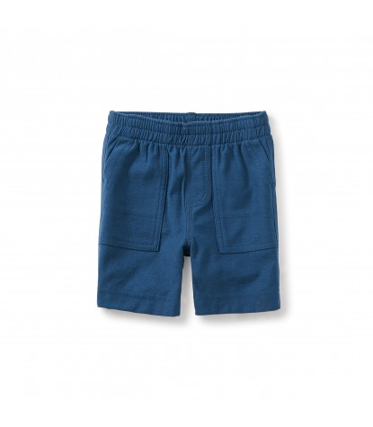 Tea Collection Jersey Playwear Baby Shorts in Poseidon