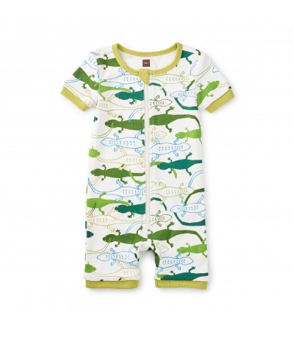 Tea Collection Leapin Lizards Baby Pajamas in Basil
