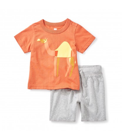 Tea Collection Hump Day Baby Outfit in Copper
