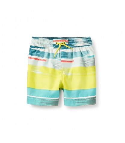 Tea Collection Noosa Baby Swim Trunks in Highlighter