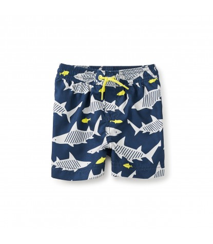 Tea Collection Wobbegong Baby Swim Trunks in Whale Blue