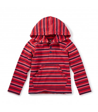 Tea Collection Taran Henley Hoodie in Red Lantern Product Image