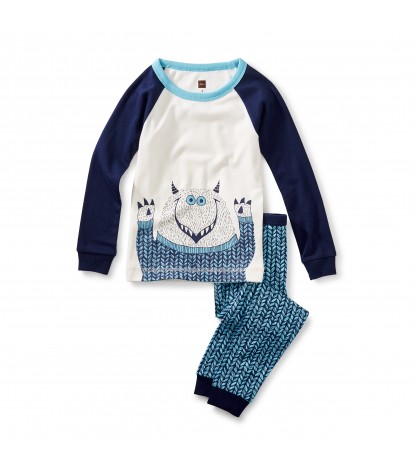Tea Collection Boys Uilebheist Pajama Set in Beluga Product Image