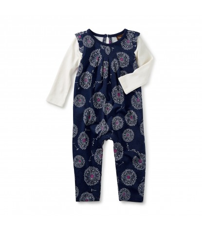 Tea Collection Wish Flutter Romper in Beluga Product Image