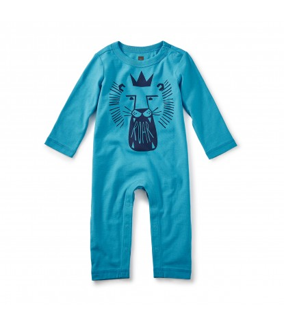 Tea Collection MacDuff Graphic Baby Romper in Pacific Blue Product Image
